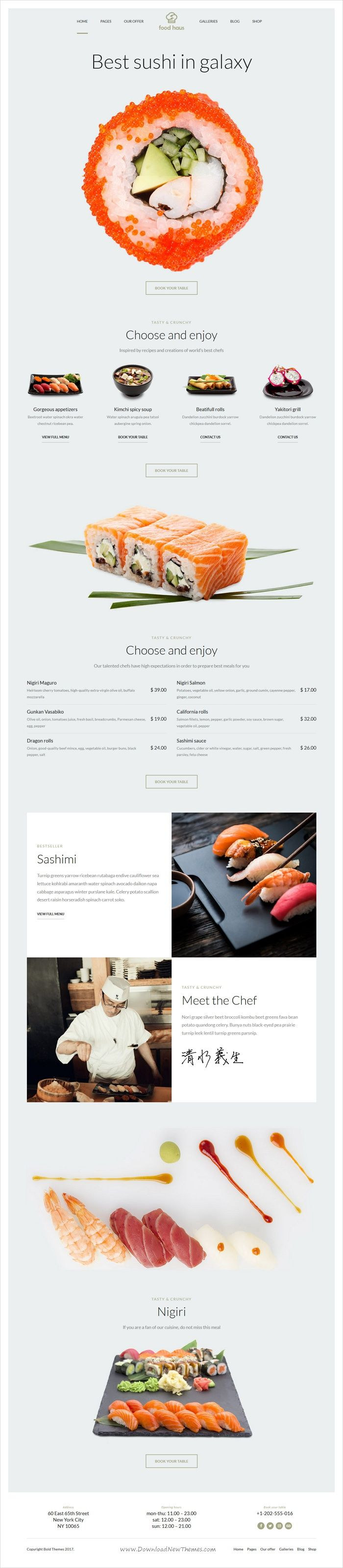Food haus is a wonderful responsive #WordPress theme for #sushi #restaurant, bar, cafe & tavern websites with 6 unique homepage layouts download now➩ https://themeforest.net/item/food-haus-restaurant-wordpress-theme/19441479?ref=Datasata