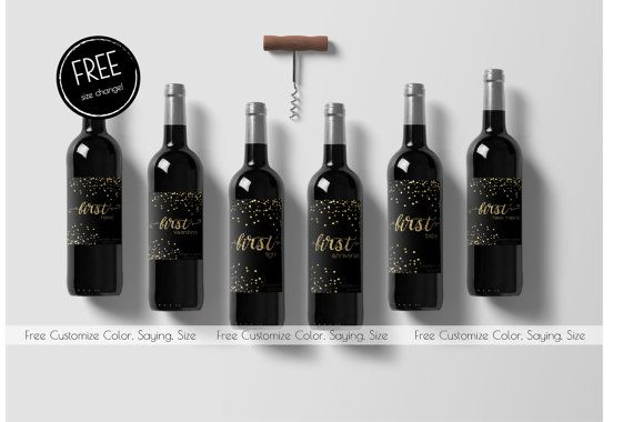 Marriage Milestone Wine Labels Wedding Wine by CakeToppersJust4You