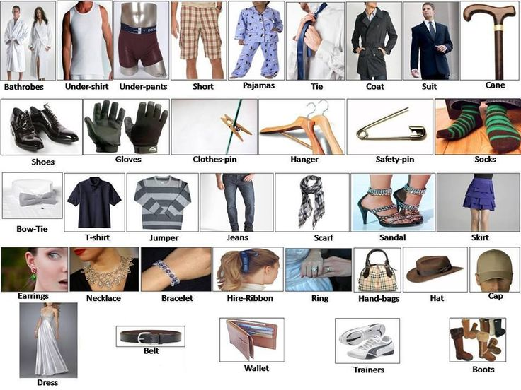 Clothes for men, women babies and accessories English ...
