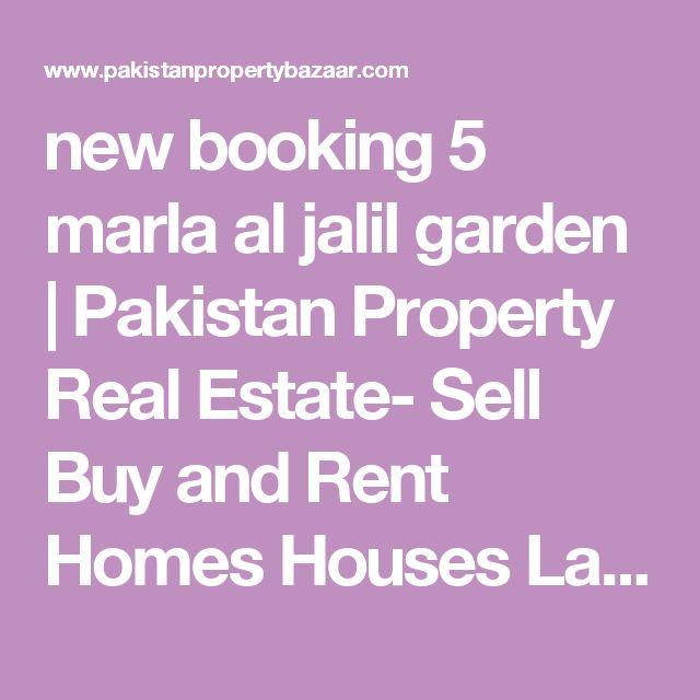 new booking 5 marla al jalil garden | Pakistan Property Real Estate- Sell Buy and Rent Homes Houses Land Zameen Plots - Pakistan Property Bazaar