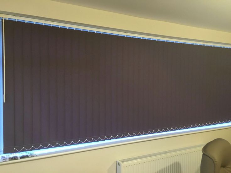 Vertical blinds for a customer, Rhyl. www.blindsrhyl.co.uk