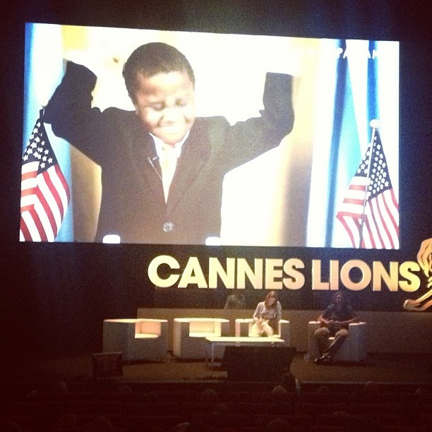 Big cheers for nine year old YouTube sensation, Kid President #canneslions #jwt