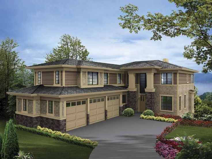 36 best house plans images – 2 Story 3 Car Garage House Plans