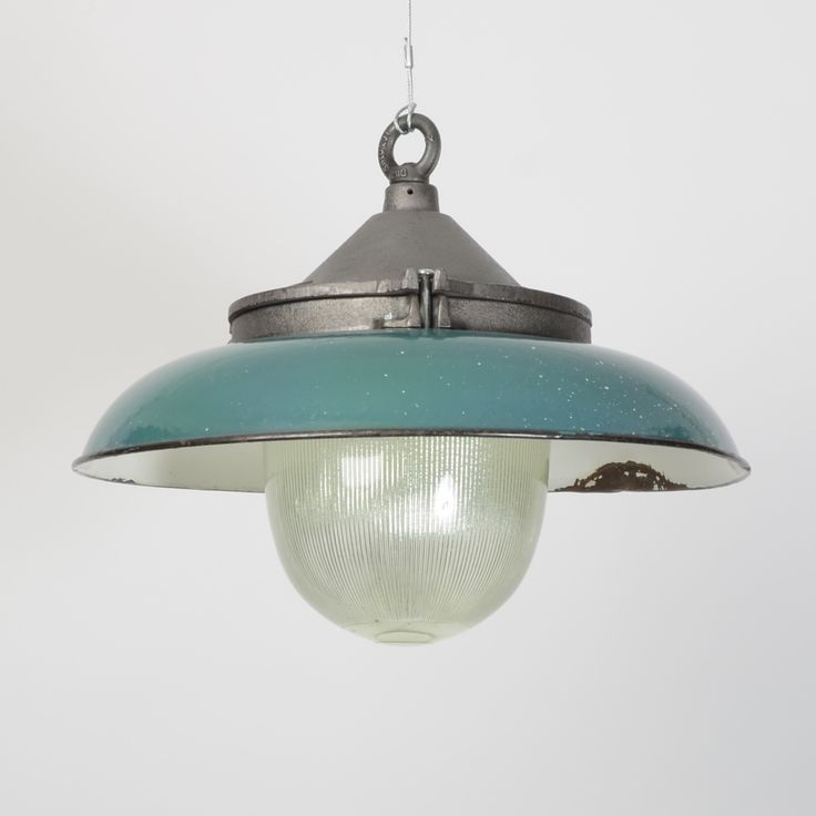 Prismatic pendant with shade turquoise trainspotters co uk industrial salvage vintage lightingglass