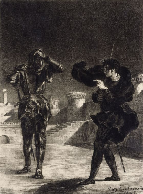 Hamlet Sees the Ghost of his Father, 1843 Eugene Delacroix ...