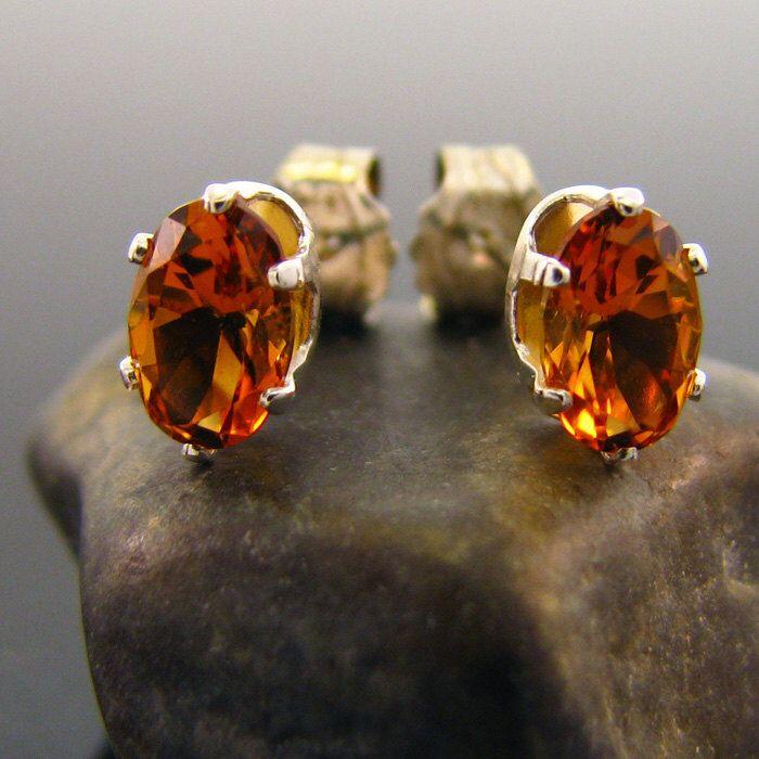 Natural citrine earring, citrine earrings, genuine citrine studs 6x4 mm by MismatchedEarrings on Etsy https://www.etsy.com/listing/224419597/natural-citrine-earring-citrine-earrings