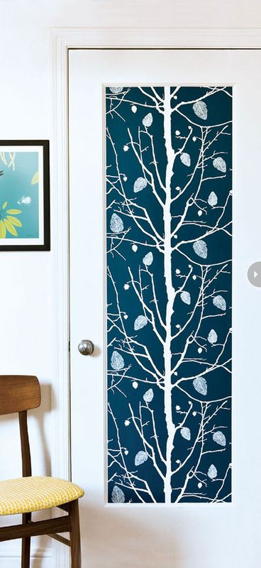 Wallpaper Projects By Adding A Strip Of To Door Panelin An Instant The Personality Area Changes