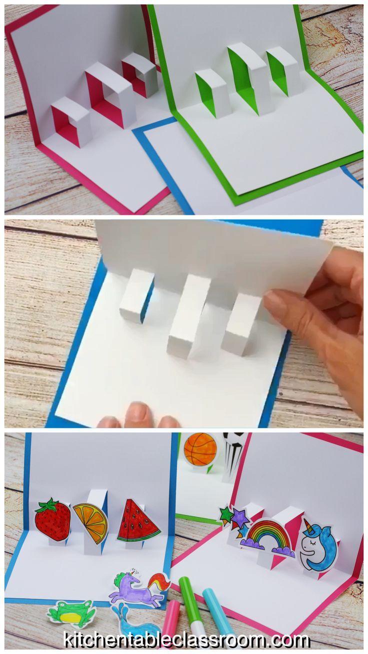 Erstellen Sie Ihre eigene 3D-Karte mit kostenlosen Pop-up-Kartenvorlagen – The Kitchen Table Classroom