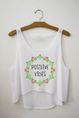 Positive Vibes Crop Top