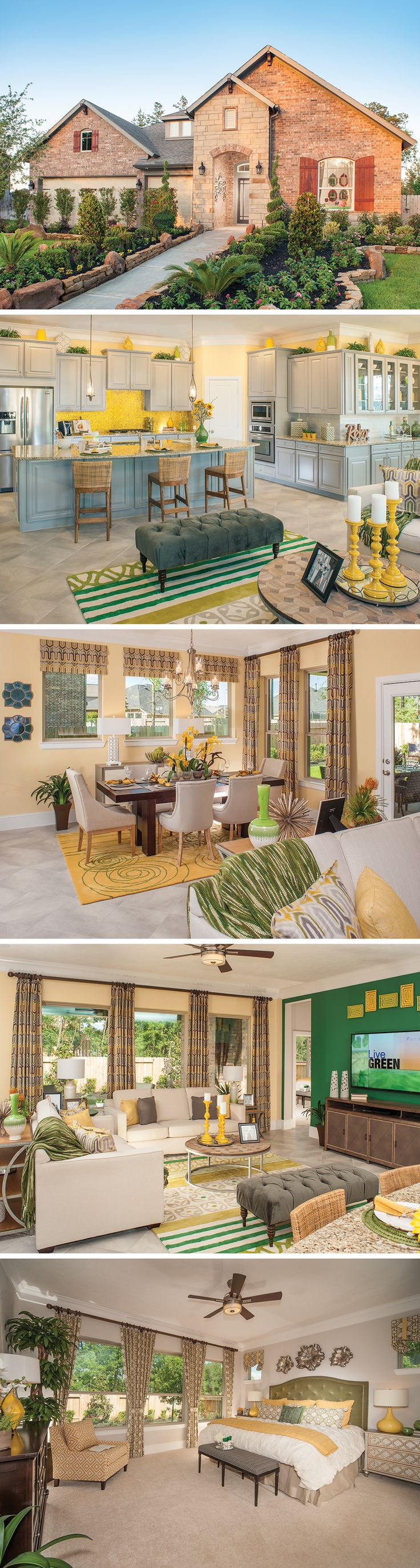 Located in North Houston, The Bynum is a stunning new floor plan near the North Energy Corridor! This 1-story new home has 4 spacious bedrooms and the open floor plan is perfect for celebrating those special occasions with friends and family. And we just love how the décor and wall paint colors pop!