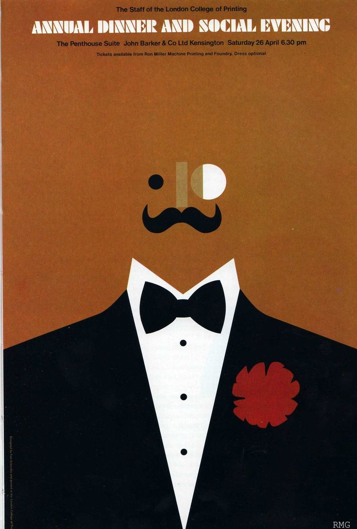 London College of Printing Annual Dinner 1975 - Tom Eckersley