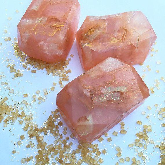 peach cobbler fairy crystal soap