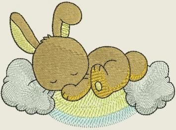 Sleeping in the sky Bunnies | Spookies Treasures