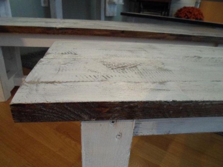 Set Bauerntisch ,Tisch massiv + 2 Sitzänke im shabby chic altweiß in Baden-Württemberg - Weilheim am Teck   Esstisch gebraucht kaufen   eBay Kleinanzeigen