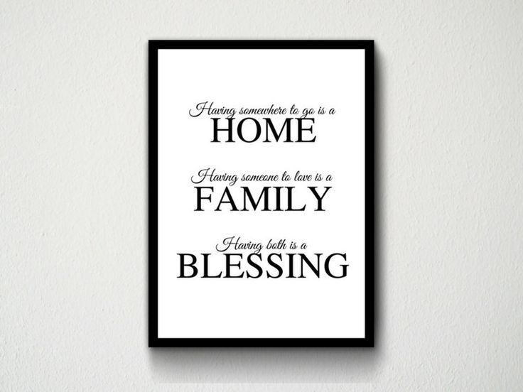 Digital Download Home, Family, Blessing Typography Wall Art Prints, White, Black, Gold, Customisable, Room Decor, Quote, Quotes, Gift by DesignsByMoniqueAU on Etsy
