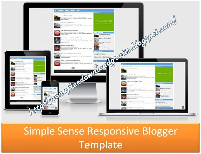 Simple Sense Responsive Blogger Template