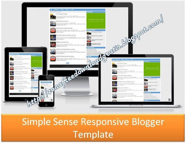 Simple Sense Responsive Blogger Template