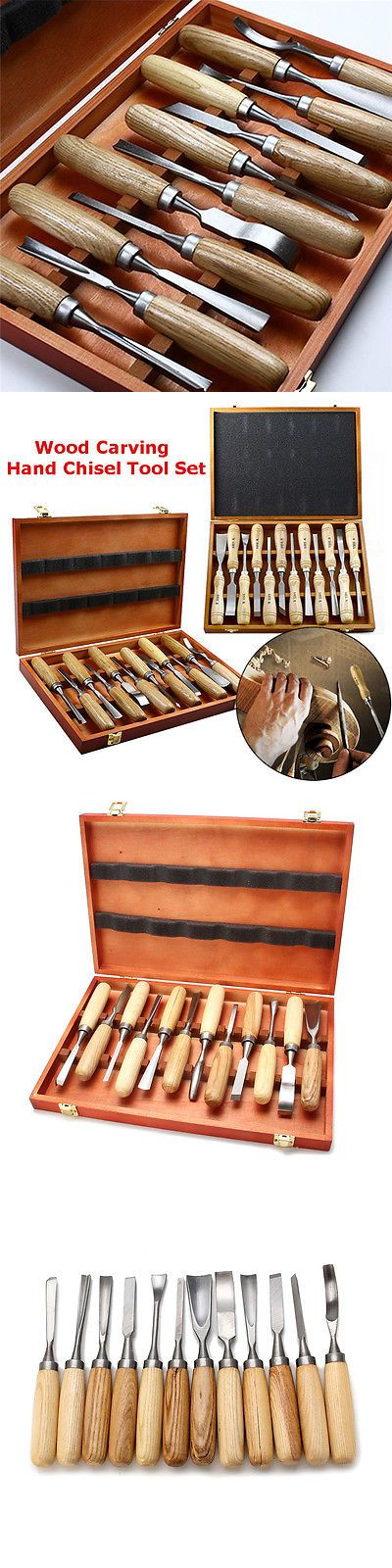 Wood Carving Hand Tools 160677: New 12 Pcs Wood Carving Hand Chisel Tool Set Woodworking Professional Gouges -> BUY IT NOW ONLY: $48.69 on eBay!