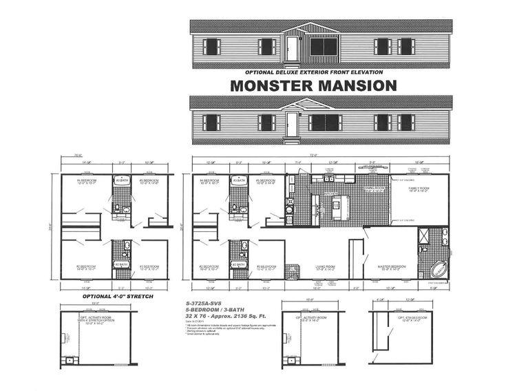 Monster Mansion Mobile Home Floor Plan Mobile home floor