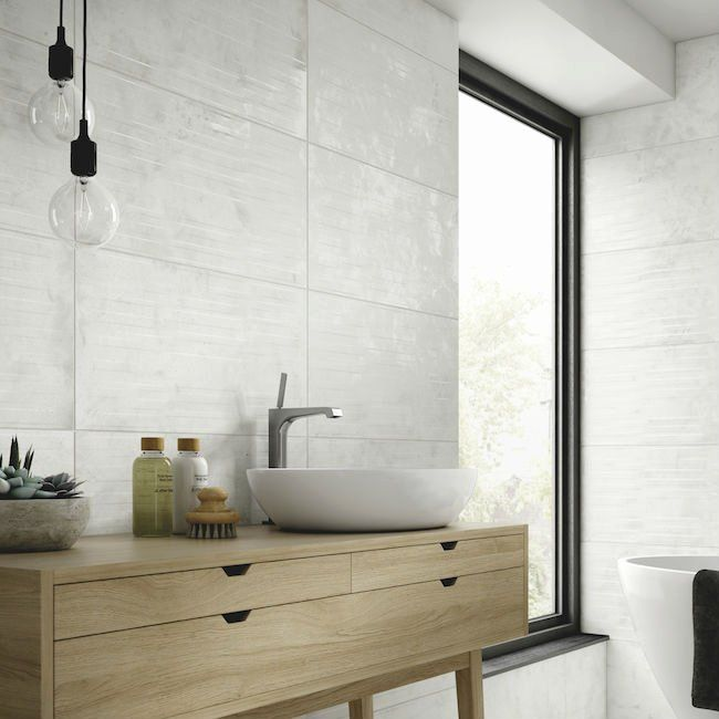 Bathroom Furniture Wickes Inspirational Grey Bathroom Tiles Stone Tile Space Silverstone Graffito In 2020 Bathroom Furniture Modern Bathroom Design Grey Bathroom Tiles