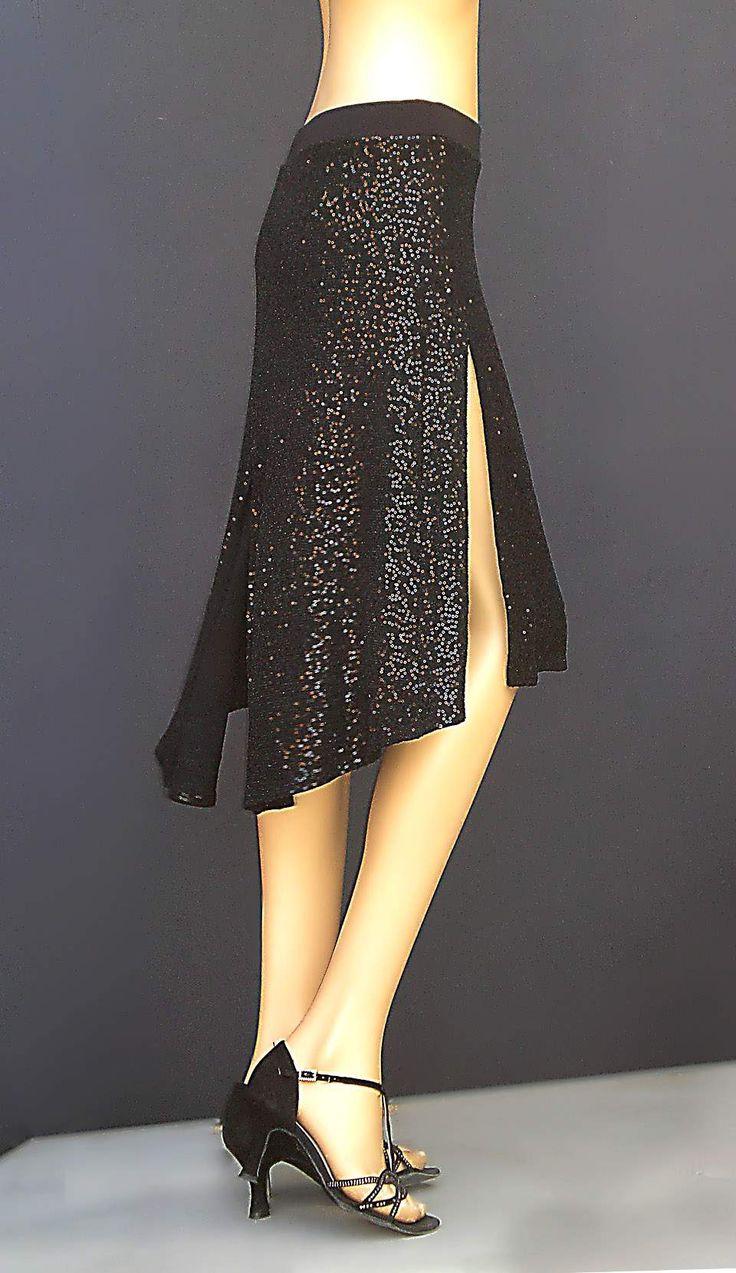td-006 sequins tango skirt
