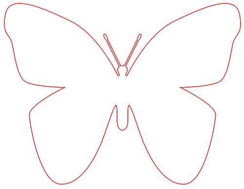 molde de borboleta ...