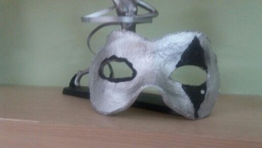 Halloween mask from clay