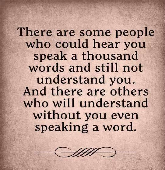 #Truth..  He who does not understand your silence will probably not understand your words.