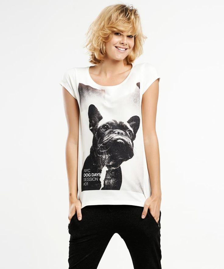 French Bulldog t-shirt. Regular Selva fit