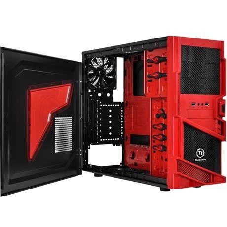 """Caja Thermaltake Commander MS-I Epic  $135.000 Especificaciones  Modelo VN400A1W2N-B Tipo de Gabinete Media Torre Color Negro / Rojo Panel Lateral Ventana Transparente Motherboard Soportadas Estandar ATX, Micro ATX Bahias de Expansión Bahias de 5.25"""" x 3 Bahias Ext. de 3.5"""" x 1 Bahias Int. de 3.5"""" x 5 Ranuras de Expansion x 7 Puertos Frontales I/O USB3.0 X 1 USB2.0 X 1 Puertos de Audio"""