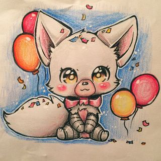 mangle-fanart-foxy-kawaii-cute-drawing-by-sketchfinity - PaigeeWorld