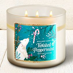 Twisted Peppermint 3-Wick Candle - Home Fragrance 1037181 - Bath & Body Works