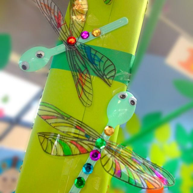 Spoon dragonfly! Crafts for kids!