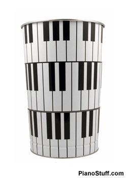 Piano Keys Wastebasket  Could Probably Do Something Like This Myself!