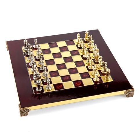Handcrafted Metallic Chess - Chess Set - Byzantine Empire (Extra Small) - Gold/Silver