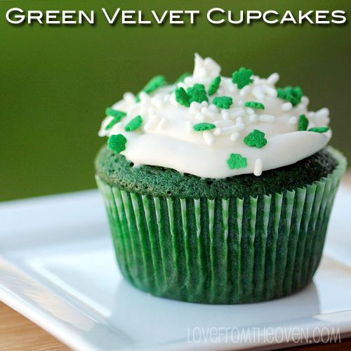 Green Velvet Cake... not only a super simple cake recipe, but a cream cheese frosting too!
