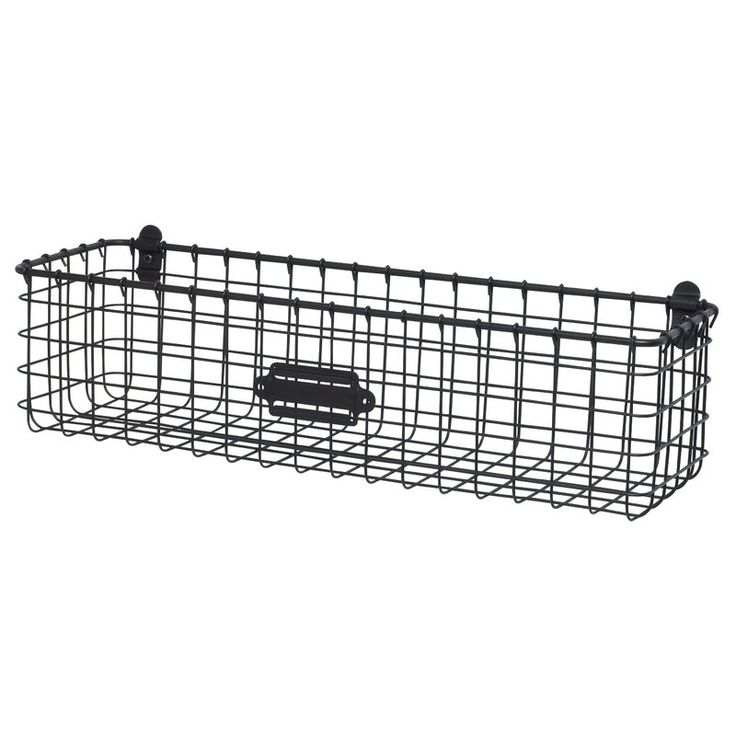 Reduce clutter and create an organized home with Spectrum's Vintage Wall Mount Basket. The basket's deep interior allows storage for wash cloths and hand towels in the bath, condiments and canned goods in the kitchen, to lawn and gardening supplies in the garage; the options are endless. A convenient label plate allows you to easily label the basket's content. Made of sturdy steel, this rustic storage bin will add the perfect amount of vintage charm to any space ...