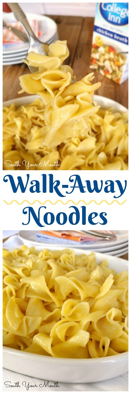 Throw everything in the pot and walk away with this recipe for perfectly cooked, hot buttered noodles that are the perfect side dish for any meal!