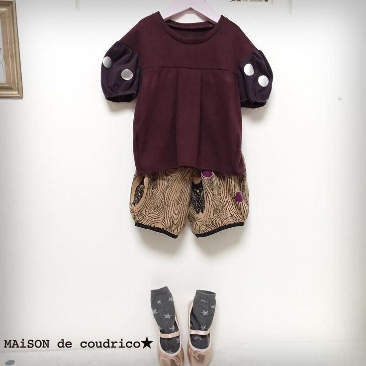 2016.10.5   MAiSON de coudrico   Autumn collection   シルバードットのぷっくりトップス サイズ.3Y こっくりワインカラーとパープルのカットソー生地 日本製です パープルのお袖にはシルバーのドットをプリントしてます 身頃もお袖もぷっくりと可愛いシルエットです   @maison_de_coudrico  http://ift.tt/2cNltMn  にてオーダー承ります(oo)  #coudrico #kidsfashion #kidsstyle #kids #handmade #girl #fashion #craft #art #minne#designforkids #artwork #creator #designer #ig_life#fashionphotography #ig_design #instagood #minne #creema#デザイン #ファッション #コーデ #子供服 #キッズファッション #キッズコーデ #アート #ドット #フクロウ