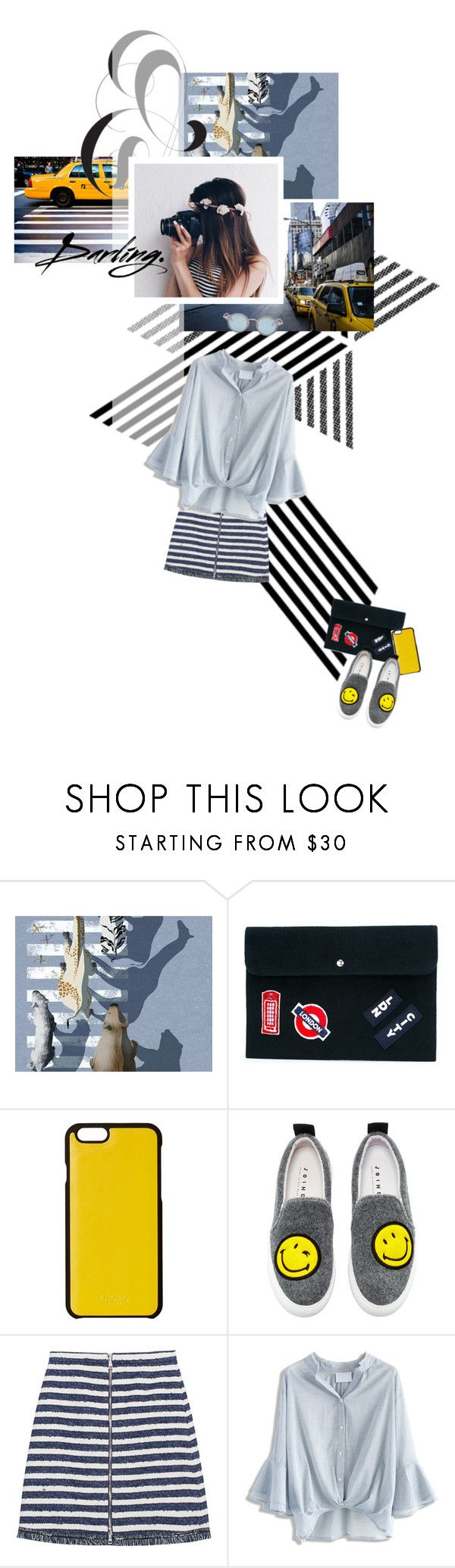 """#8 Stripes"" by corverabrowne ❤ liked on Polyvore featuring TAXI, Joshua's, Knomo, Sonia by Sonia Rykiel, Chicwish, Thom Browne, stylemission and SM8"