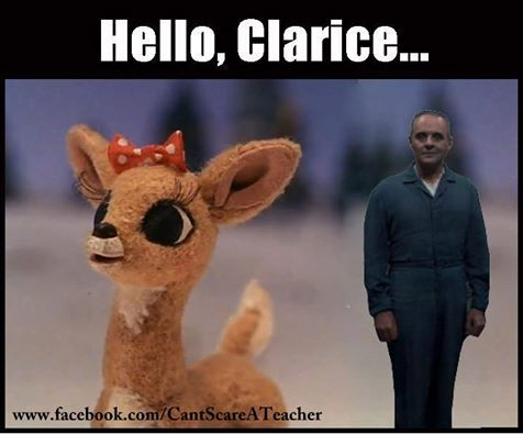 Rudolph the Red Nosed Rain Deer x Silence of the Lambs. For more cool memes, cool stuff, and utter nonsense visit http://www.pinterest.com/SuburbanFandom/memes-and-such-nonsense/