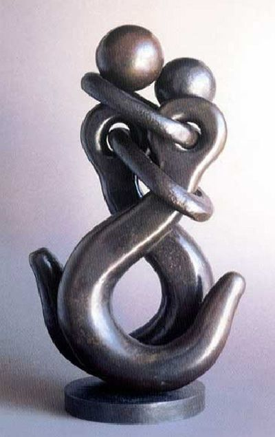 love, movement, humor and elegance - 4 key components of the art of Jean-Pierre Augier, a sculptor recycling discard metal tools into beautiful sculptors. The gallery on his website includes some lovely pieces - http://www.jpaugier.fr/