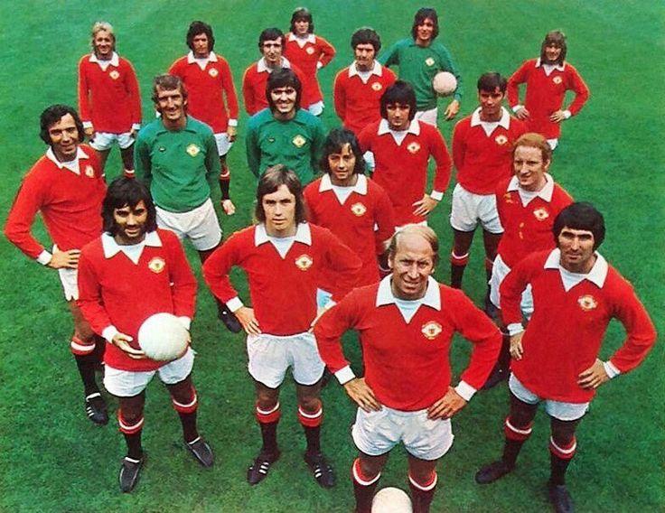 Man Utd team photo in 1972.