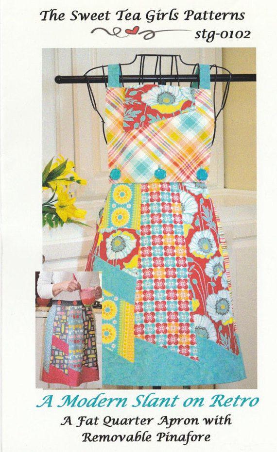 A Retro Apron - Pattern - Sweet Tea Girls - #patterns @EtsyMktgTool http://etsy.me/2rJkXoF