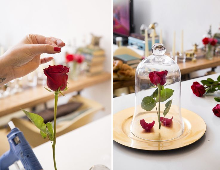 """First things first, create your own enchanted rose. 