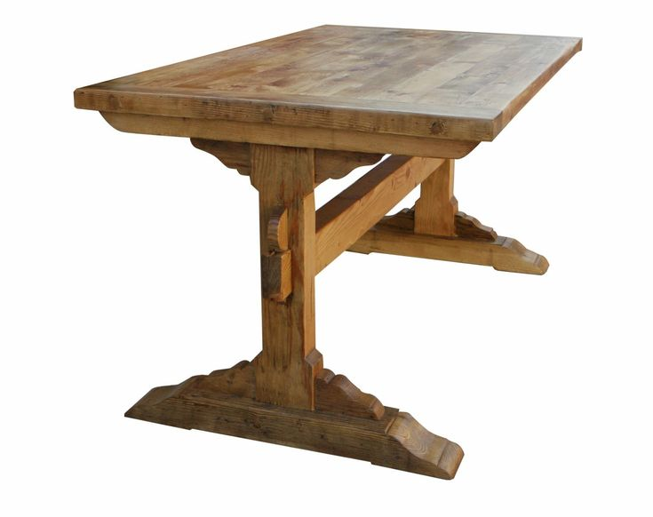 17 best images about trestle dining table on pinterest for Dining table tv