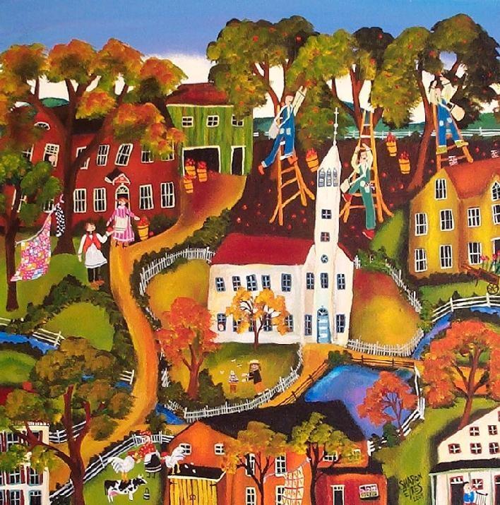 American Folk Art Museum Primitive Folk Art Painting Art