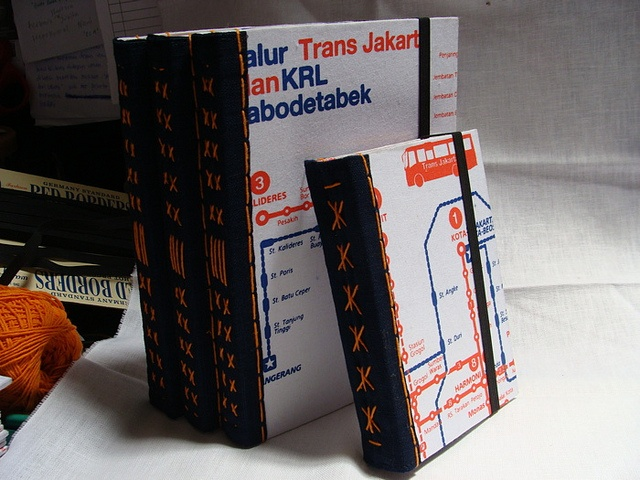 Handmade Notebook Trans Jakarta Busway Map (A5 & A6) by vitarlenology, via  Flickr