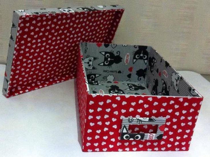 25+ melhores ideias de Caixa organizadora de papelão no ...