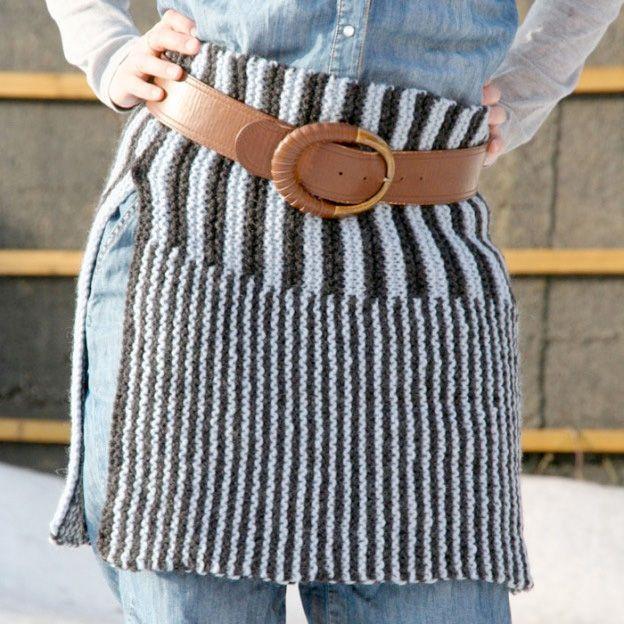 Gratis strikkeoppskrift på stripeskjørt